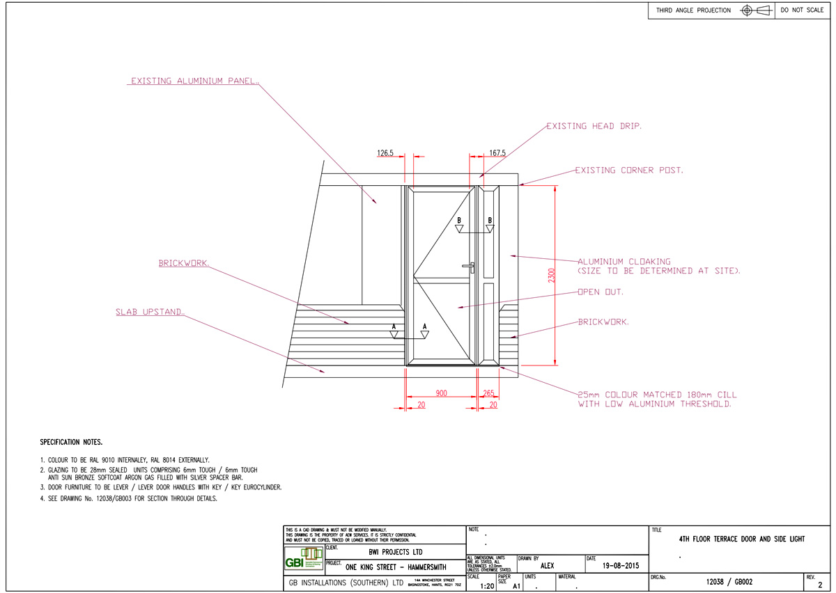 We worked with GB Installations to produce drawings for window designs.