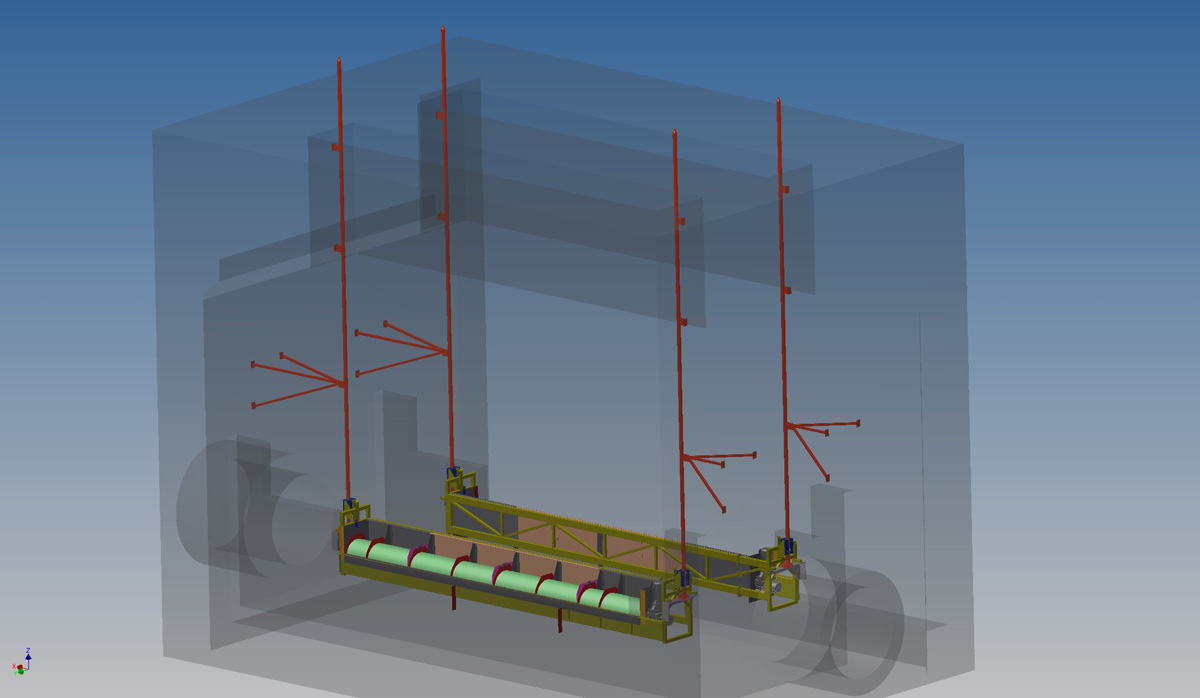 We were asked by the client to incorporate machine (CSO) into structural steel work, that was designed in conjunction with a structural engineer