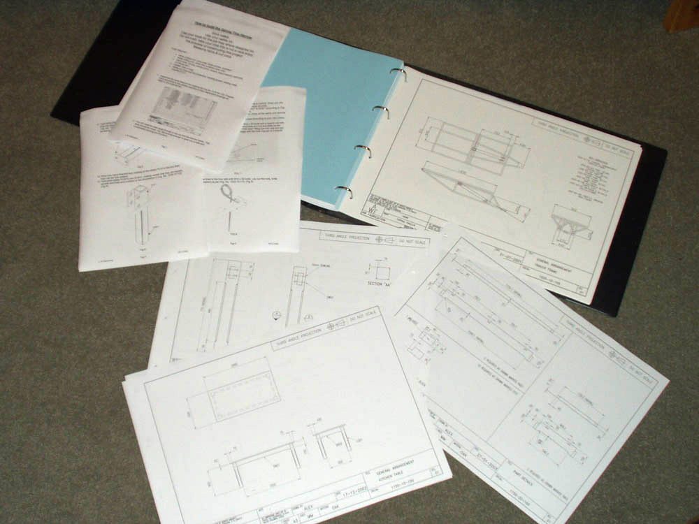 Project folders and document assembly tailored to a client's requirement